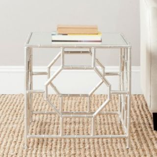 Safavieh Rory Accent Table   Silver/Mirror Top   End Tables