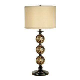 Dale Tiffany Mosaic 3 Ball Art Glass Table Lamp   Table Lamps