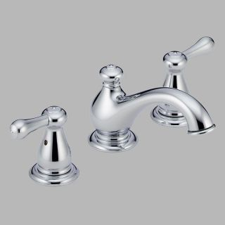 Delta Leland 3578LF Double Handle Widespread Bathroom Sink Faucet   Bathroom Sink Faucets