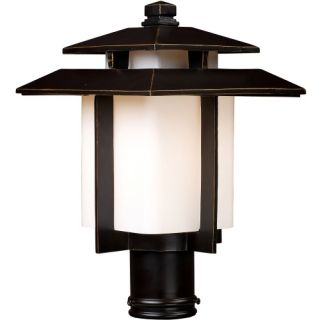 Elk Lighting Kanso Post Light   15H in. Hazelnut Bronze   Outdoor Post Lighting