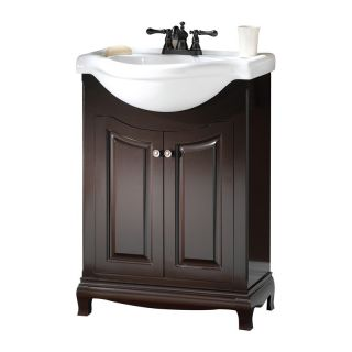 Foremost Palermo Euro 25 in. Single Bathroom Vanity with Optional Mirror or Wall Cabinet   Single Sink Bathroom Vanities