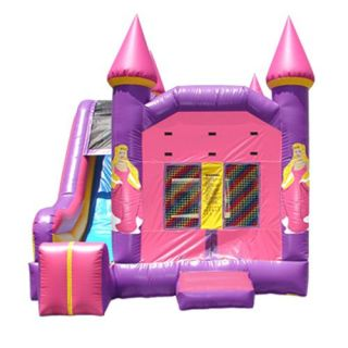 Kidwise 4 in 1 Princess Combo Bounce House And Slide   Commercial Inflatables