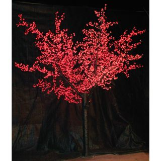 12 ft. Pre lit LED Cherry Blossom Tree   Red   Christmas Trees