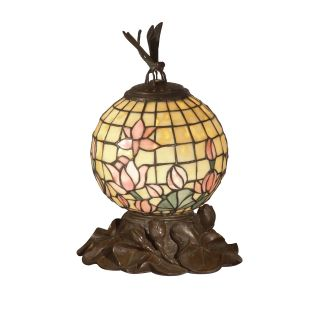 Dale Tiffany Globe with Dragonfly Lamp   Tiffany Table Lamps