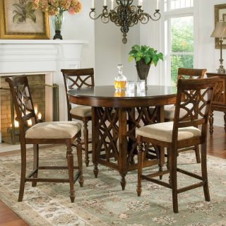 Standard Furniture Woodmont 5 Piece Counter Height Dining Table Set   Dining Table Sets
