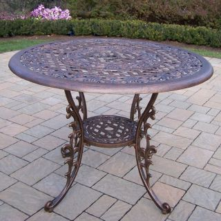 Oakland Living Mississippi Cast Aluminum 42 in. Patio Dining Table   Patio Tables