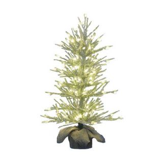 Kurt Adler 36 in. Green Flocked Pre Lit Christmas Tree   Christmas Trees