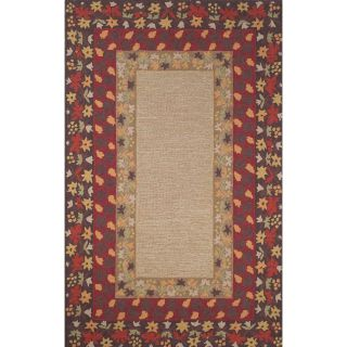 Trans Ocean Liora Manne Ravella Provencal Border Indoor/Outdoor Area Rug   Red   Area Rugs