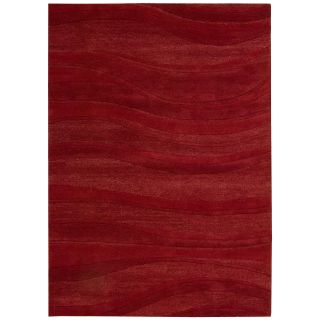 Nourison Natures Terrain NAT1 Area Rug   Red   Area Rugs