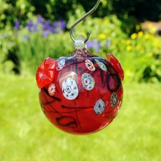 Round Batik Hummingbird Feeder   Bird Feeders