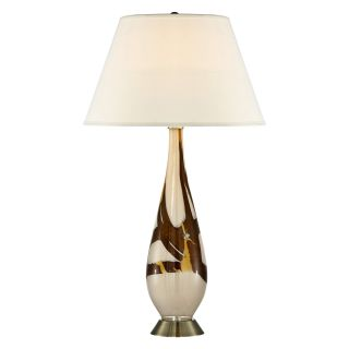 Pacific Coast Lighting Cappuccino Marble Art Glass Table Lamp   Table Lamps