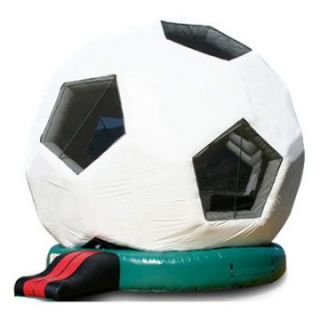 EZ Inflatables Inflatable Soccer Ball Bounce House   Commercial Inflatables