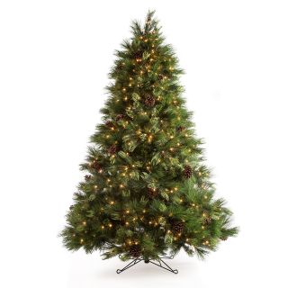 7.5 ft. White Pine Pre Lit Christmas Tree   Christmas Trees