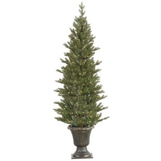 Vickerman 5 ft. Potted Mini Noble Pre Lit LED Christmas Tree   Christmas Trees