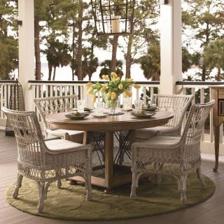 Paula Deen Down Home Breakfast Table 5 piece Dining Set   Oatmeal   with Wicker Chairs   Dining Table Sets