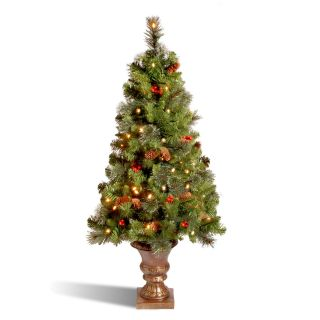 Crestwood Spruce Entrance Full Pre lit Christmas Tree   Christmas Trees