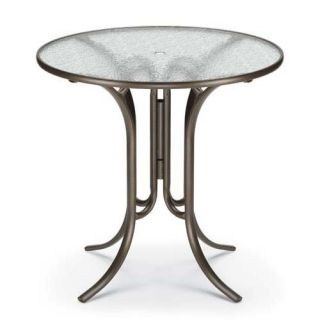 Telescope Casual 42 in. Round Glass Top Patio Bar Height Dining Table   Patio Tables