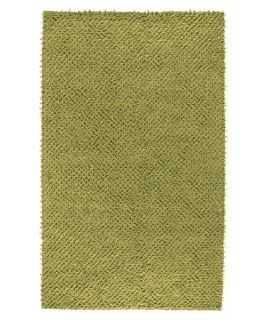 Surya Todd TOD 1003 Square Felted Shag Area Rug   Acid Green   Area Rugs