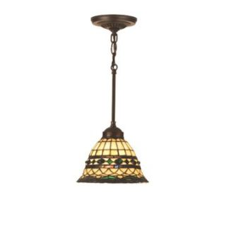 Meyda Roman Tiffany Mini Pendant Light   8W in. Bronze   Tiffany Ceiling Lighting