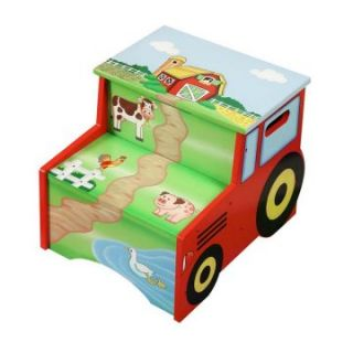 Teamson Design Happy Farm Step Stool with Storage   Specialty Chairs