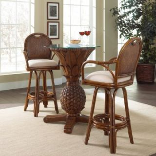Hospitality Rattan Sunset Reef 3 Piece Pub Set with Cushions   TC Antique   Indoor Bistro Sets