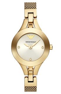 Emporio Armani Round Mesh Strap Watch, 26mm