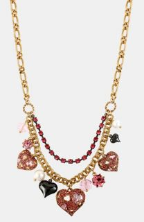Betsey Johnson Iconic Pinkalicious Frontal Necklace