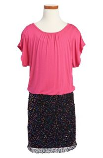 Nicole Miller Short Sleeve Sequin Dress (Little Girls & Big Girls)