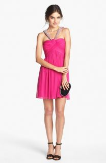 Way In Embellished Pleat Bodice Dress (Juniors)