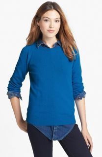 Halogen® Long Sleeve Crewneck Cashmere Sweater