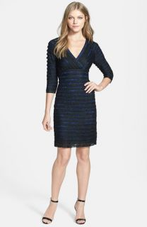 Maggy London Illusion Back Pleated Matte Jersey Dress (Regular & Petite)