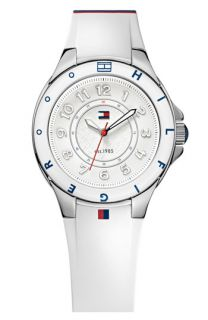 Tommy Hilfiger Round Silicone Strap Watch, 34mm