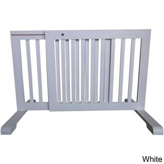 Free standing Adjustable Wood Pet Gate Pet Gates