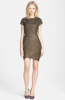 FELICITY & COCO Metallic Textured Knit Sheath Dress ( Exclusive)