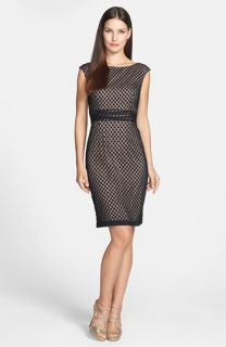 Adrianna Papell Dot Lace Sheath Dress (Regular & Petite)