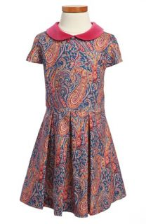 Oscar de la Renta Cap Sleeve Party Dress (Toddler Girls, Little Girls & Big Girls)