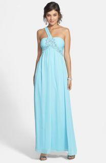 Hailey Logan Embellished One Shoulder Gown (Juniors)