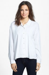 Eileen Fisher Classic Collar Linen Blend Shirt