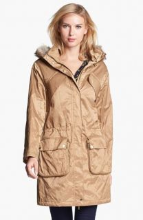 MICHAEL Michael Kors Hooded Anorak with Faux Fur Trim