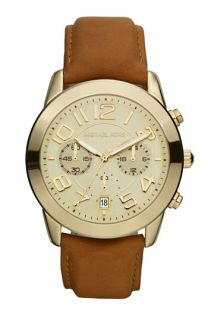 Michael Kors Chronograph Leather Strap Watch, 41mm
