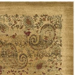 Lyndhurst Collection Paisley Beige/ Multi Rug (3' 3 x 5' 3) Safavieh 3x5   4x6 Rugs