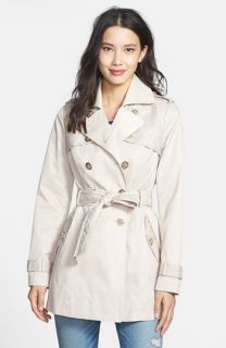 Jessica Simpson Lace Detail Belted Trench Coat