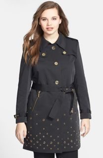 MICHAEL Michael Kors Grommet Detail Trench Coat (Plus Size)
