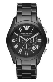 Emporio Armani Large Ceramic Chronograph Watch, 42mm