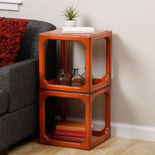 Stackable Domino Cubes End Table (Indonesia) Coffee, Sofa & End Tables