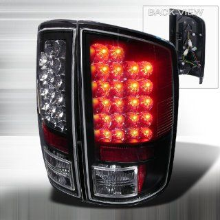 02 03 04 05 06 Dodge Ram 1500, 03 04 05 06 Ram 2500&3500 LED Tail Lights   Black (Pair) Automotive