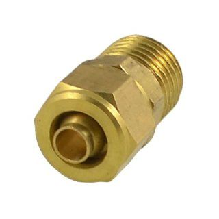 "0.51"" x 0.197"" Pneumatic Air Hose Quick Coupler Connector Fittings Gold Tone"