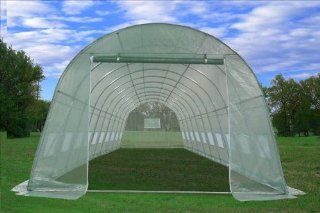 Large Heavy Duty Green House Walk in Greenhouse Hothouse 33'L X 13'W X 7.5'H 192 Pounds Patio, Lawn & Garden