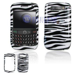 Blackberry Curve 8900 Cell Phone Black/White Zebra Design Protective Case Faceplate Cover