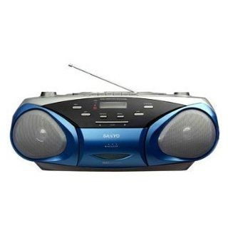Sanyo MCD V199M Portable VCD/CD Radio Cassette Player with Karaoke. Cassette Recorder with  CD Playback 110V 240V for Worldwide Use.  Cassette Player Products   Players & Accessories